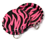 Two Sided Hot Pink Zebra Bottle Cap Pendants - Standard