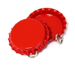 Two Sided Cherry Red Bottle Cap Pendants -Standard