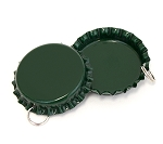 Two Sided Green Bottle Cap Pendants -Standard