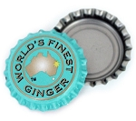 Vintage Bottle Caps, World's Finest Ginger - Turquoise