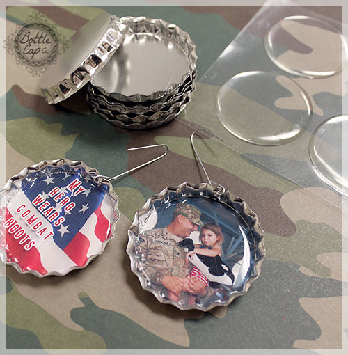 Army Photo Christmas Ornaments