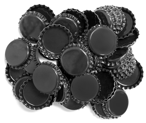 Two Sided Black Bottle Caps