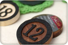 Wooden Bingo Chips... Oh the fun possibilities!
