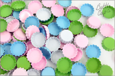 Pastel Colored Mini Bottle Caps