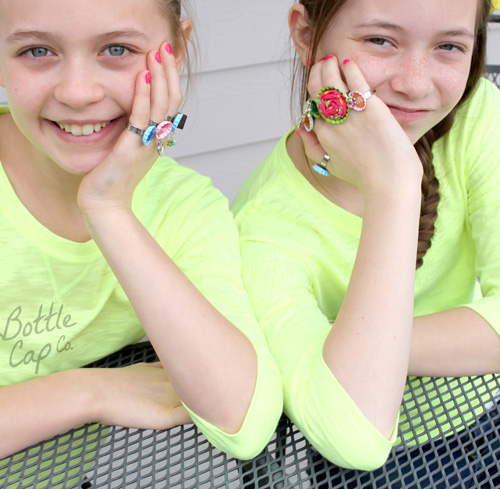 Bottle Cap Ring Party!