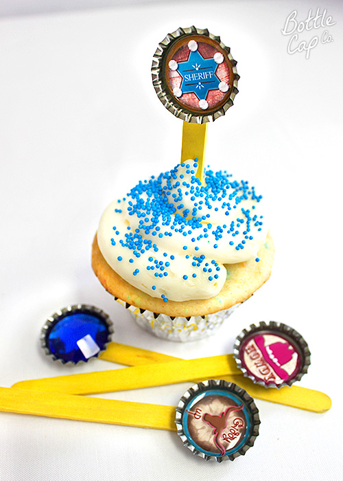 Bottle Cap Cupcake Toppers