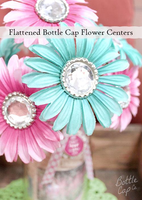 Flattened Bottle Cap Flower Centers
