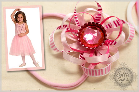 How to Make Bottle Cap Hair Bows
