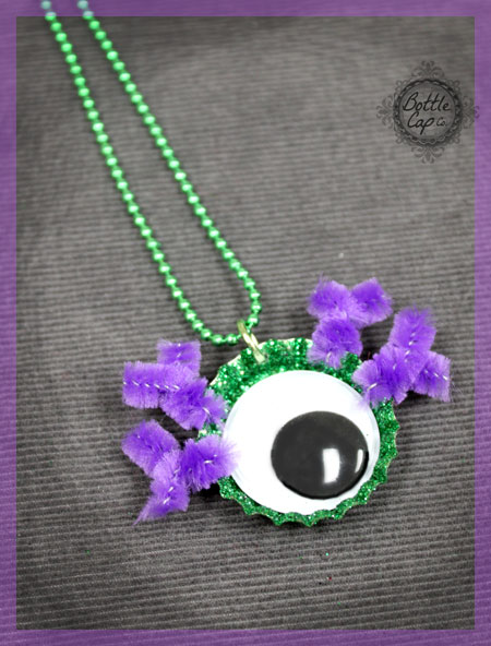 Googly Eye Necklace Halloween Craft and Jewelry