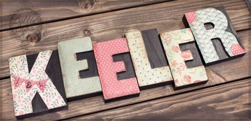 DIY: Name Letter Press Home Decor
