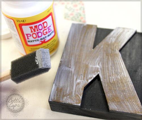 Letter Press Blocks and Mod Podge