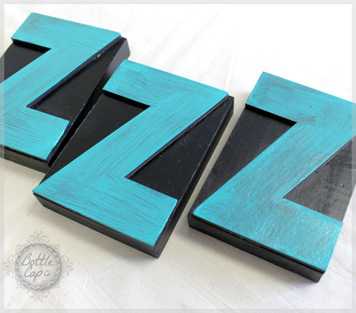 Painted Letter Press Blocks