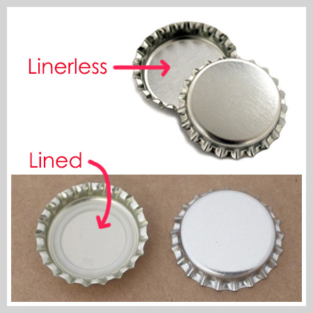 Linerless Chrome Bottle Caps