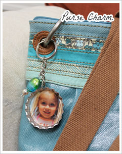 Super Jumbo Bottle Cap Photo Purse Charm