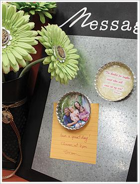 How to Make Bottle Cap Photo Fridge Magnets Craft Blog