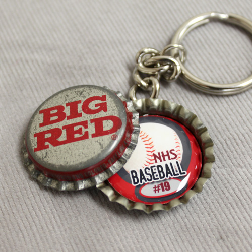 Baseball Vintage Bottle Cap Key Chain