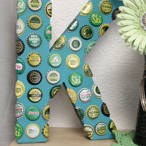 Bottle Cap Letter Home Decor