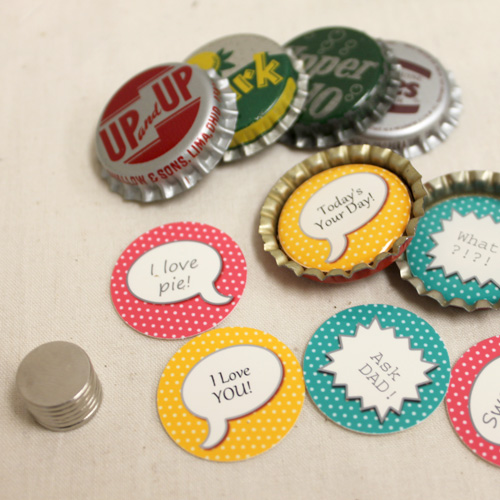 Custom Bottle Cap Magnet Set