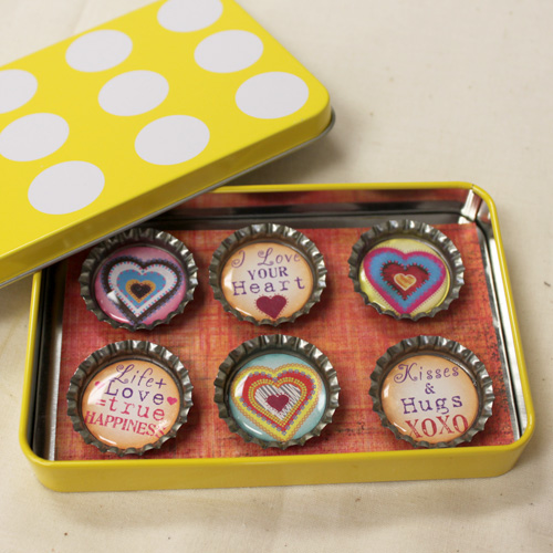 Bottle Cap Magnet Gift Set