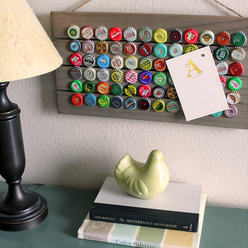 Magnetic Bottle Cap Message Board