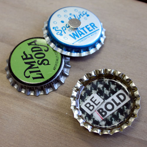 Vintage bottle Cap Magnet Set