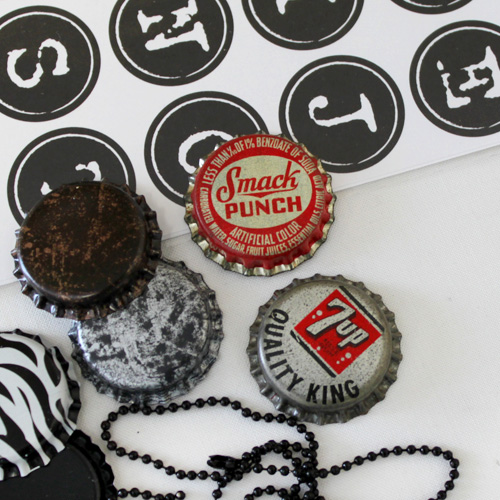 Vintage Bottle Cap Necklace Supplies