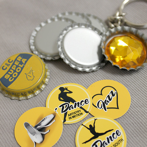 Dance team fundraiser bottle cap items