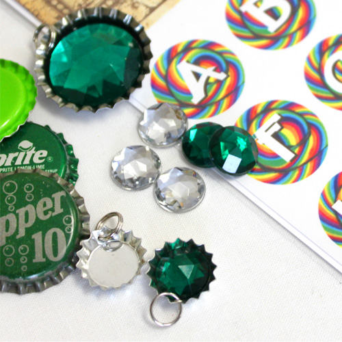 Kids Bottle Cap Necklace Ideas