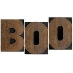 BOO, Large Letter Press Blocks