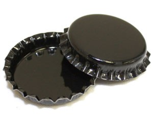 Two Sided Black Bottle Caps Standard