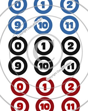 Bottle Cap Images -Mini Numbers