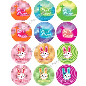 Bottle Cap Images -Happy Easter