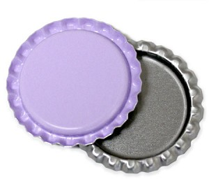 Purple Bottle Caps Flattened