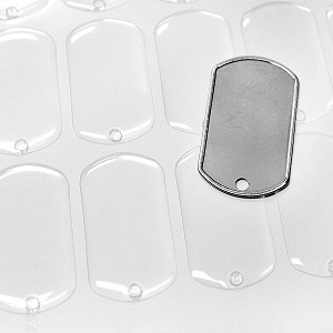 Dog Tag Clear Epoxy Dots