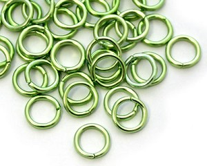 8mm Jump Rings -Green