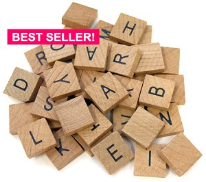 Wooden Alphabet Tile Set -40 Count
