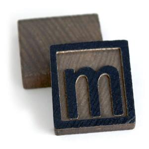 wooden letter press 10 letter ms