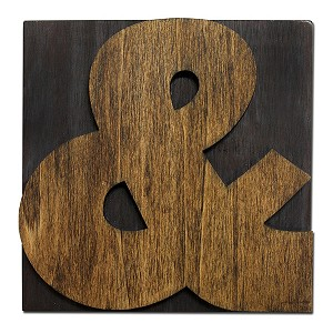 AMPERSAND, Large Letter Press Blocks