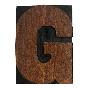 G, Large Letter Press Blocks