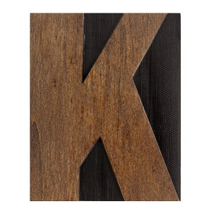 K, Large Letter Press Blocks