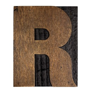 R, Large Letter Press Blocks