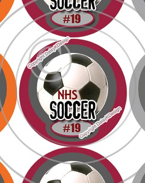 Soccer-1 Inch Editable Bottle Cap Images