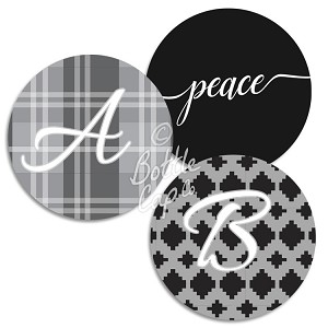"1.75"" Bottle Cap Images-Jumbo Christmas Monograms"
