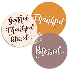 "1.75"" Bottle Cap Images-Jumbo Thankful Grateful Blessed"