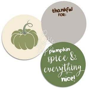 "1.75"" Bottle Cap Images-Jumbo Thanksgiving Sayings Green"