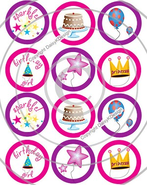 Bottle Cap Images - Birthday Girl
