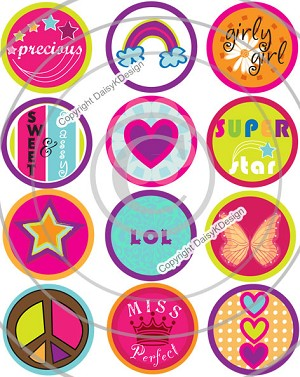 Bottle Cap Images - Funky Tween 2