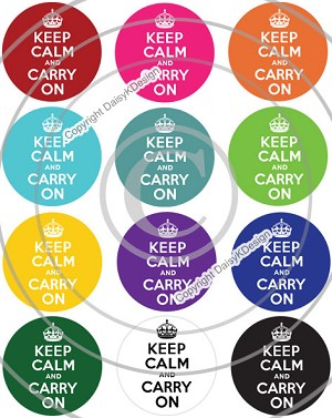 Bottle Cap Images - Keep Calm & Carry On
