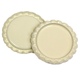 Two Sided Cream Bottle Caps Flattened