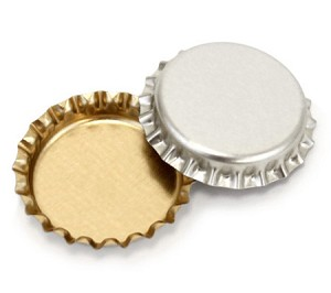 Chrome/Gold Bottle Caps Standard